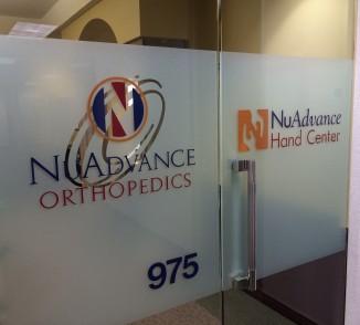 NuAdvance office door